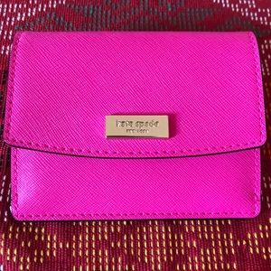 NWT Kate Spade Petty Wallet in Peony Pink